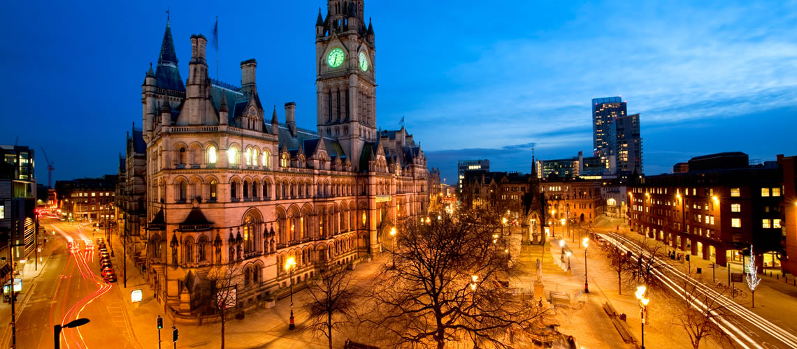 Town Hall di Manchester.
