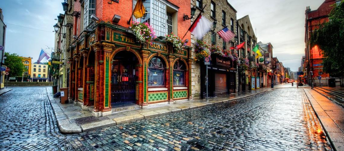 Uno dei Pub storici di Dublino a Temple Bar.