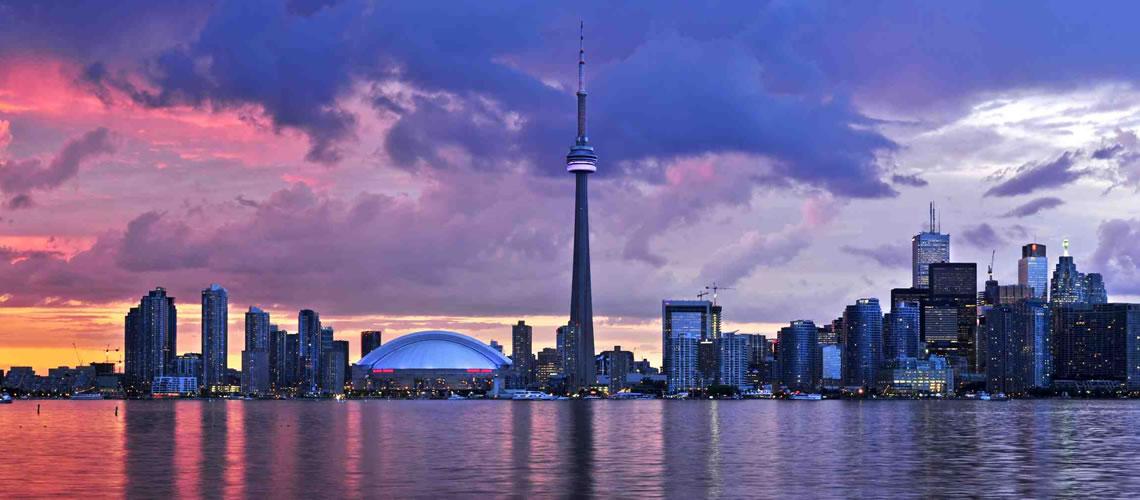 Skyline di Toronto.