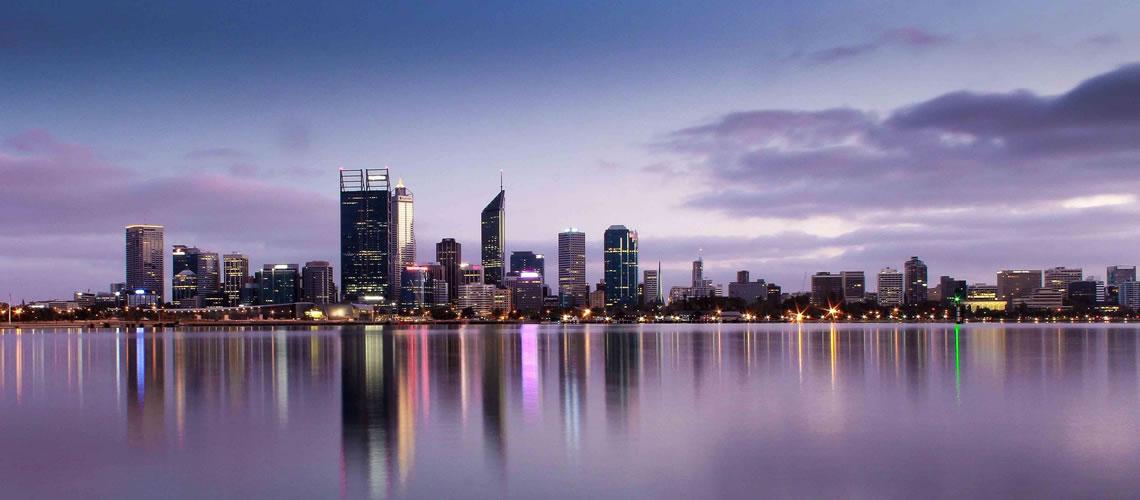 Skyline di Perth.