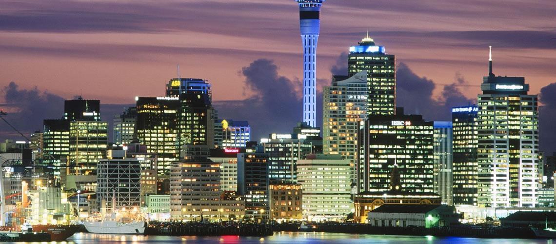Lo skyline di Auckland