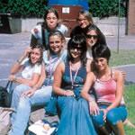Un gruppo di studenti con una accompagnatrice Euro Master Studies