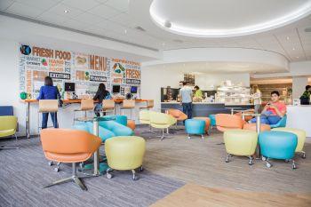 student lounge con caffetteria