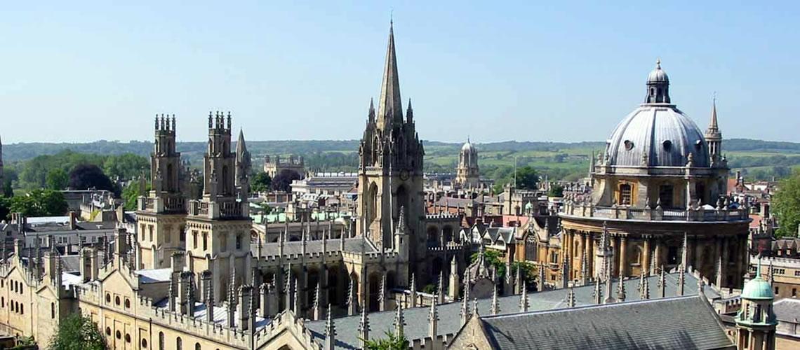 Un veduta aerea di Oxford