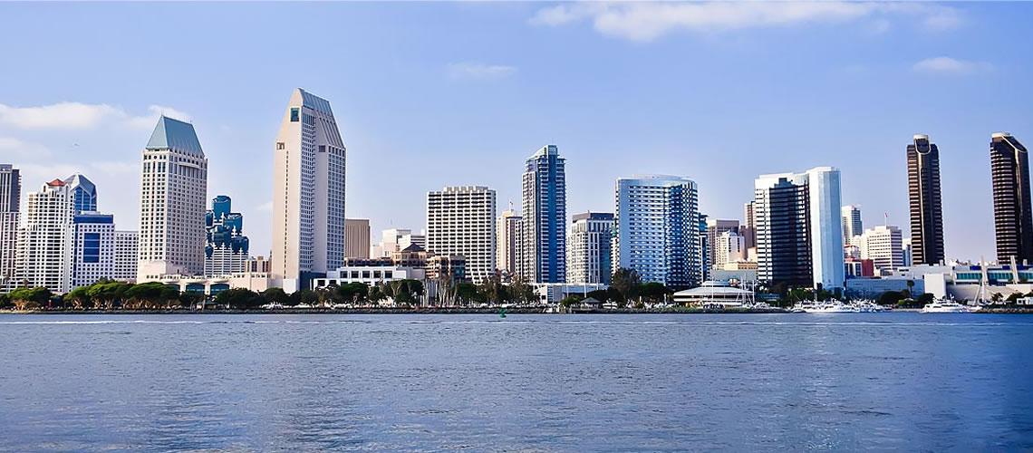 Lo skyline di San Diego